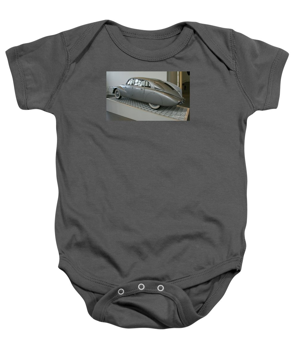 Oldtimer Baby Onesie featuring the photograph Oldtimer Tatra T87 by Christiane Schulze Art And Photography