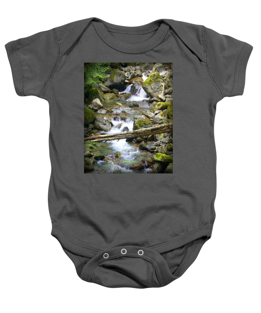 Olympic Mountains Baby Onesie featuring the photograph Olympic Range Stream by Marty Koch