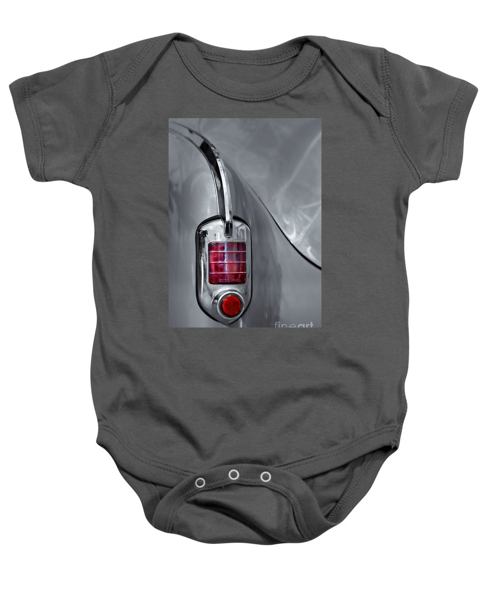 Abstract Baby Onesie featuring the photograph On Reflection - Sc by Nikolyn McDonald