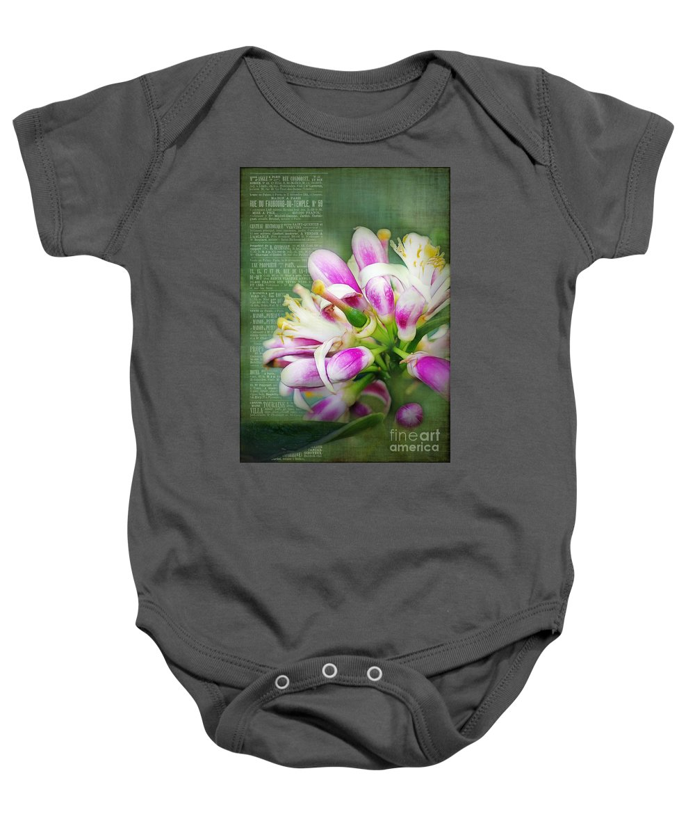 Orange Baby Onesie featuring the photograph Orange Blossom Special by Judi Bagwell
