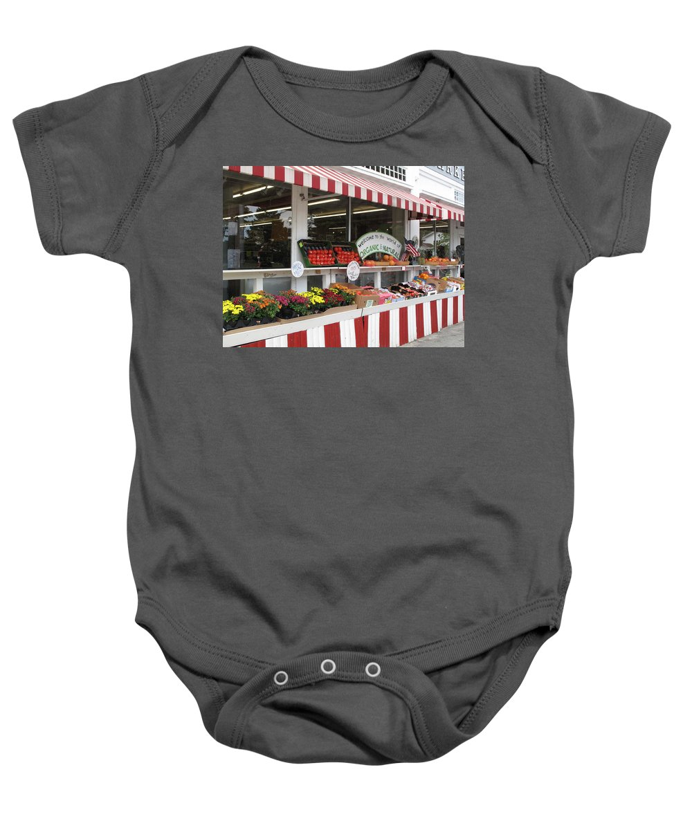 Produce Baby Onesie featuring the photograph Organic And Natural by Barbara McDevitt
