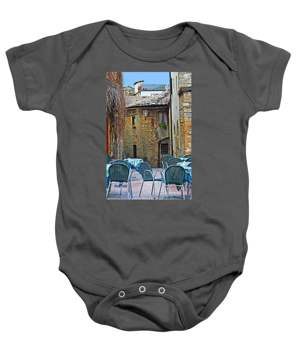 Travel Baby Onesie featuring the photograph Outdoor Dining by Elvis Vaughn