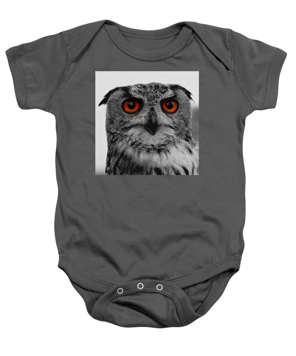 Adorable Baby Onesie featuring the photograph Owl by TouTouke A Y
