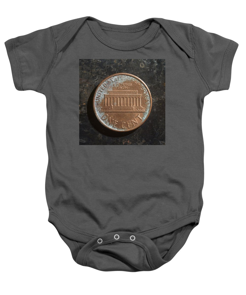 Americana Baby Onesie featuring the photograph P19xx A T by Robert Mollett