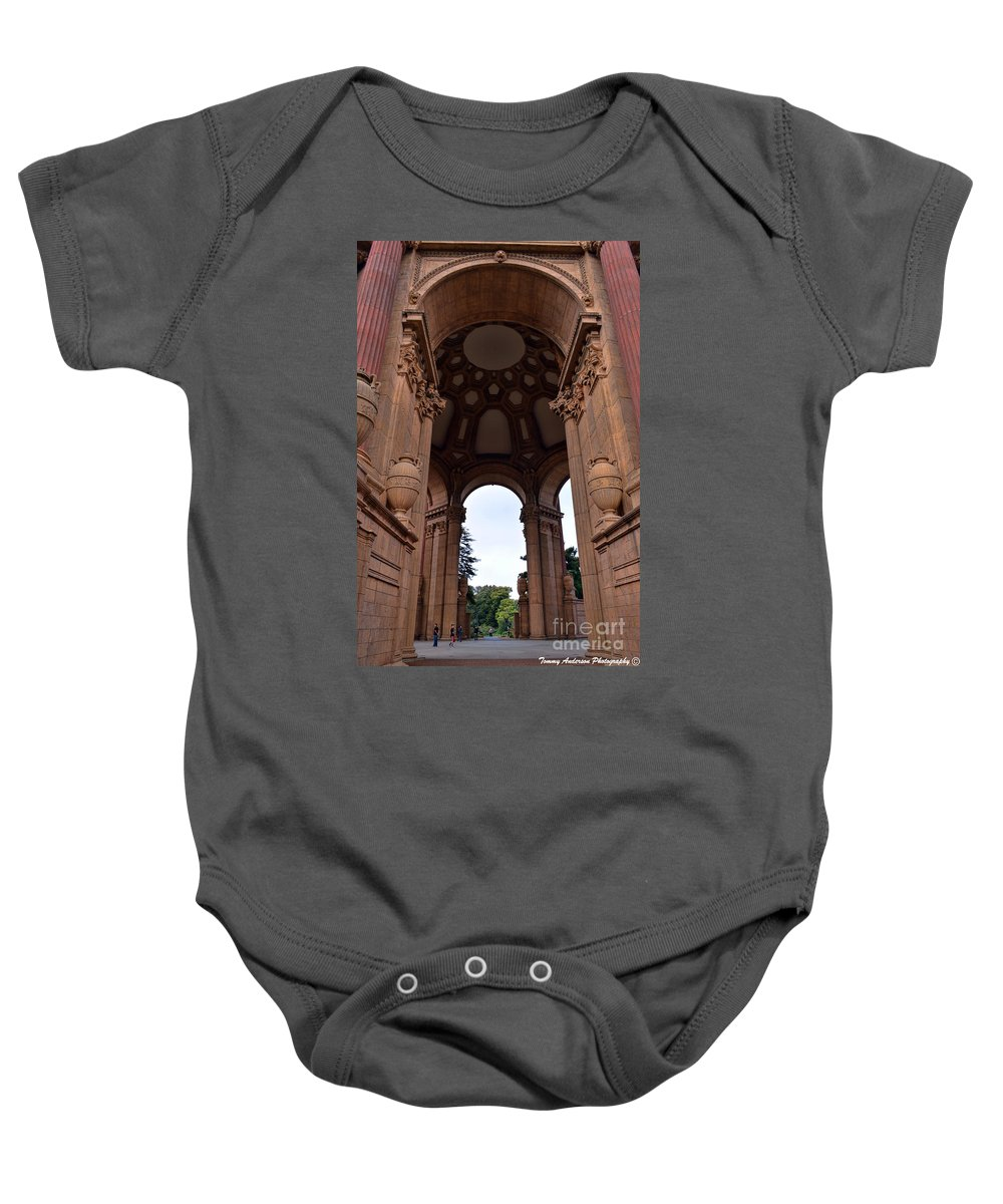 Palace Of Fine Arts Baby Onesie featuring the photograph Palace Of Fine Arts -2 by Tommy Anderson