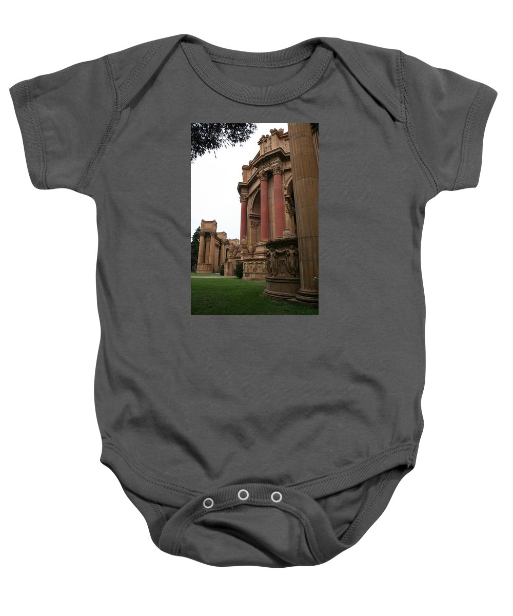 San Francisco Baby Onesie featuring the photograph Palace Of Fine Arts by Christiane Schulze Art And Photography