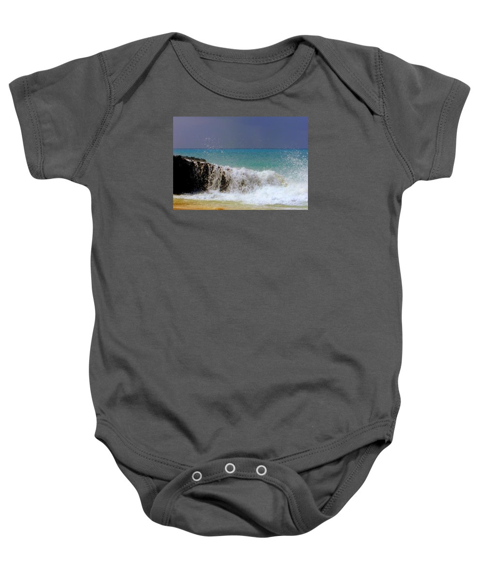 Waterscapes Baby Onesie featuring the photograph Palette Of God by Karen Wiles