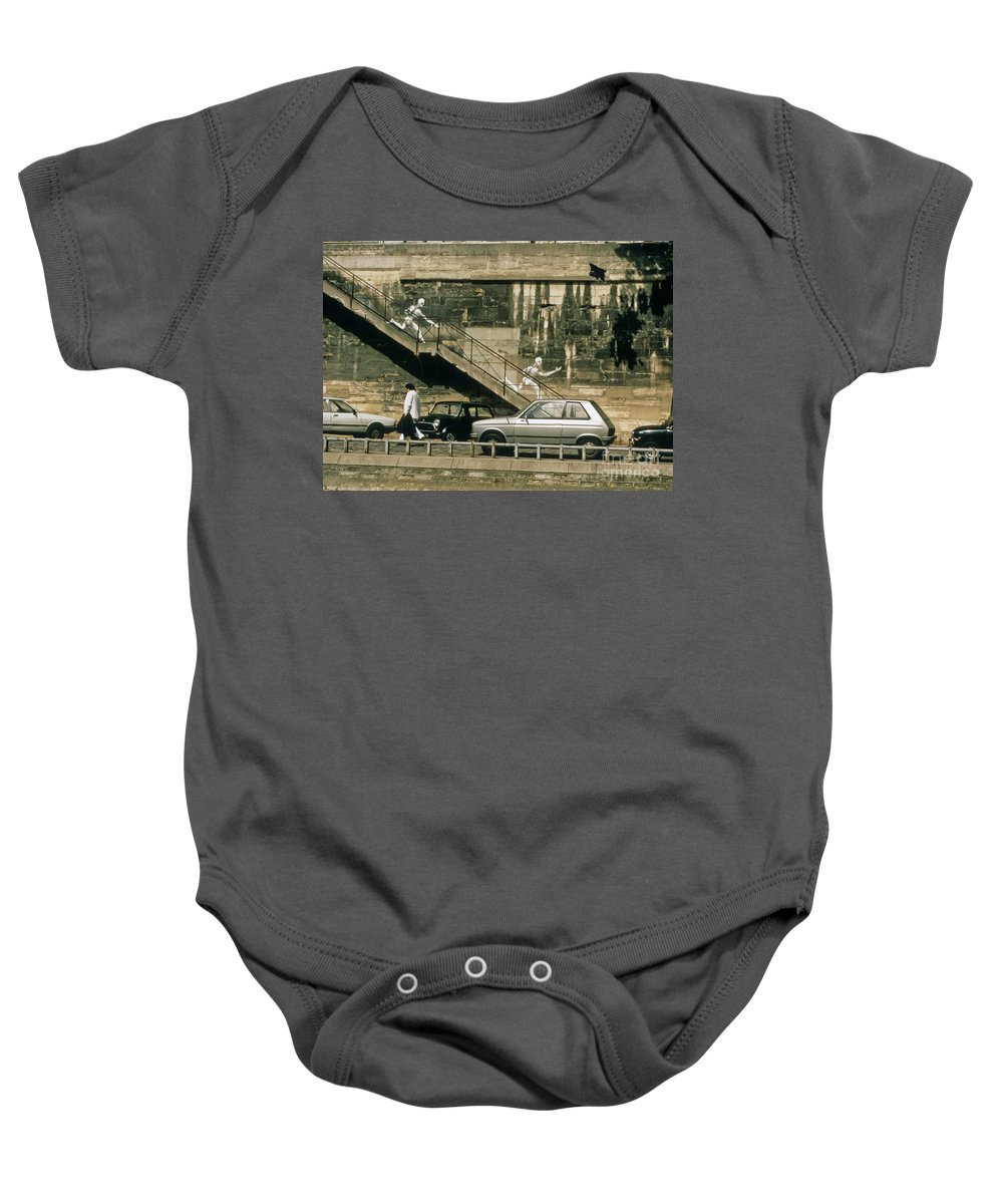 Paris Baby Onesie featuring the photograph Paris Wall by Thomas Marchessault