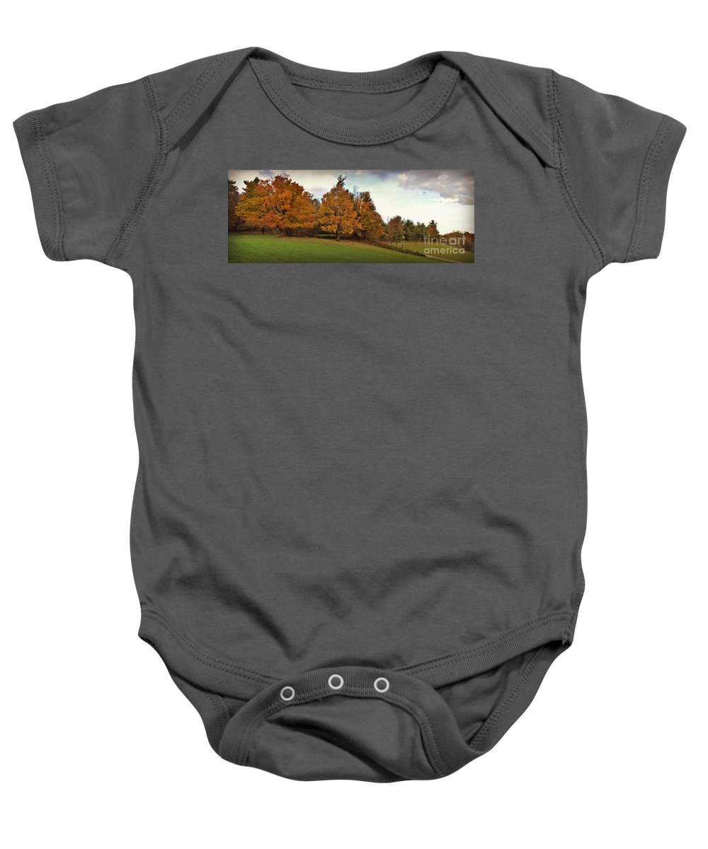Panoramic Baby Onesie featuring the photograph Parkway Panoramic by Eric Liller