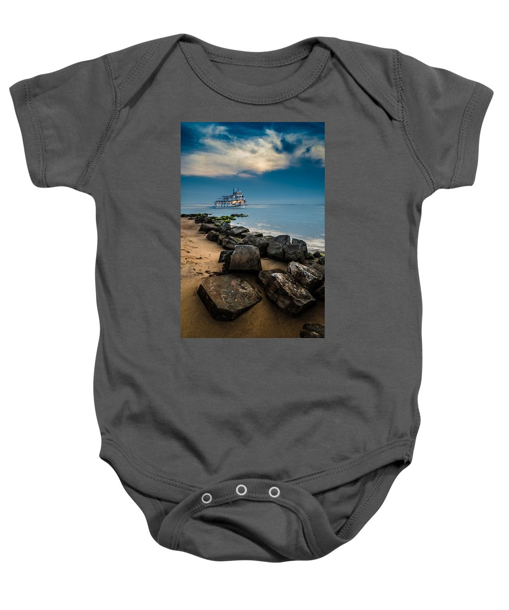 Landscape Baby Onesie featuring the photograph Party Cruise by Joseph Pellicone