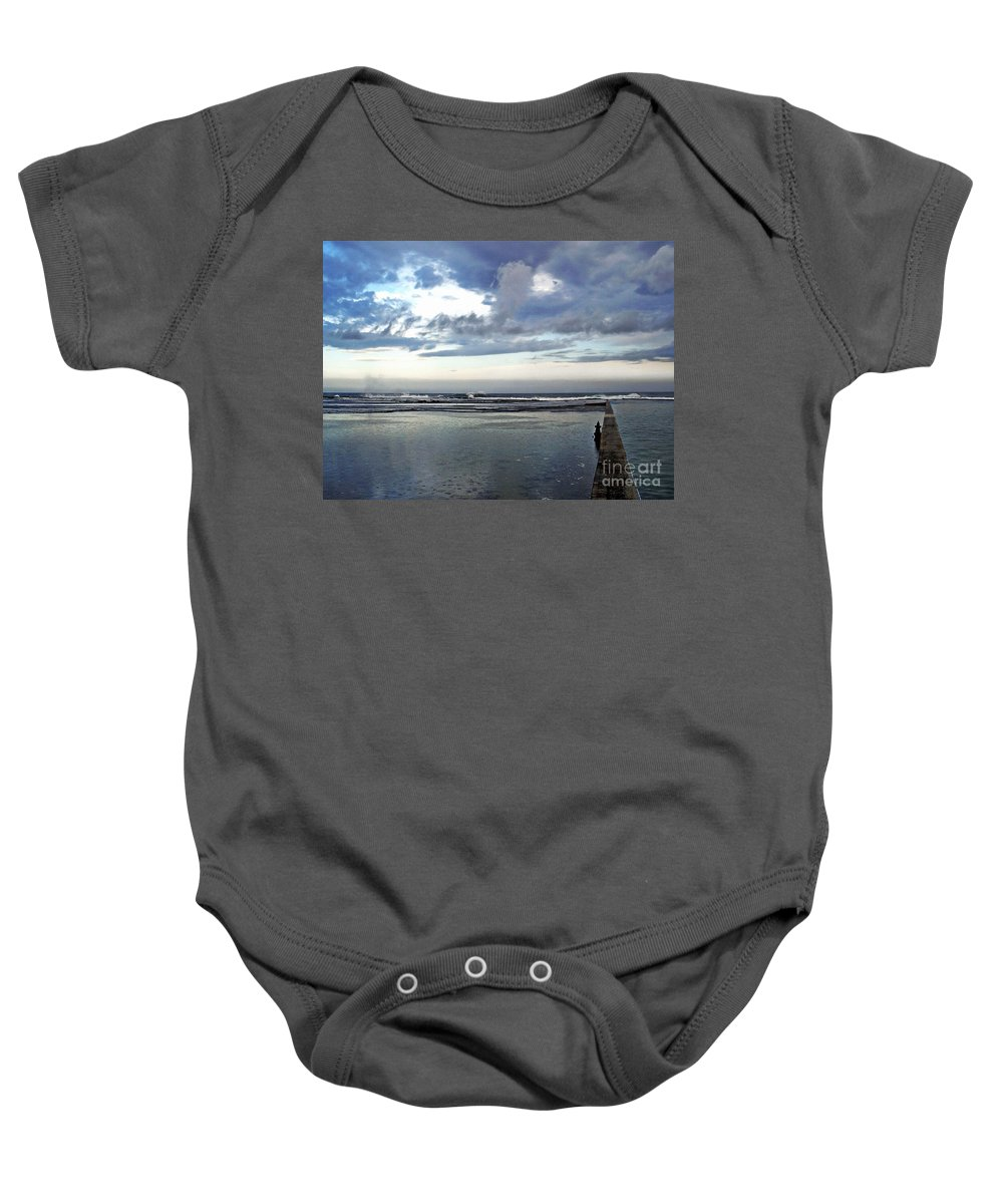 Photography Baby Onesie featuring the photograph Passing Of The Storm by Kaye Menner