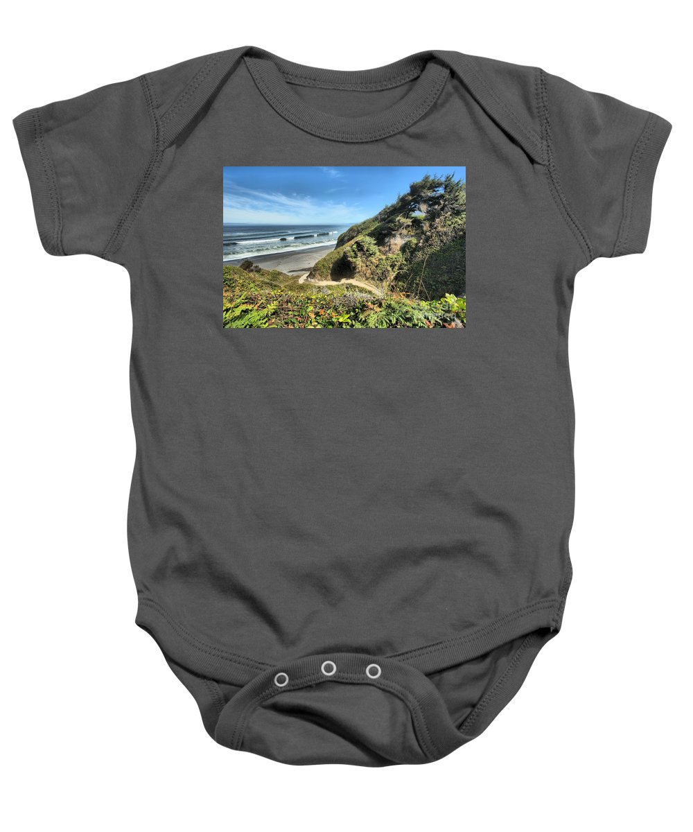 Patrick's Point Baby Onesie featuring the photograph Patrick's Point by Adam Jewell