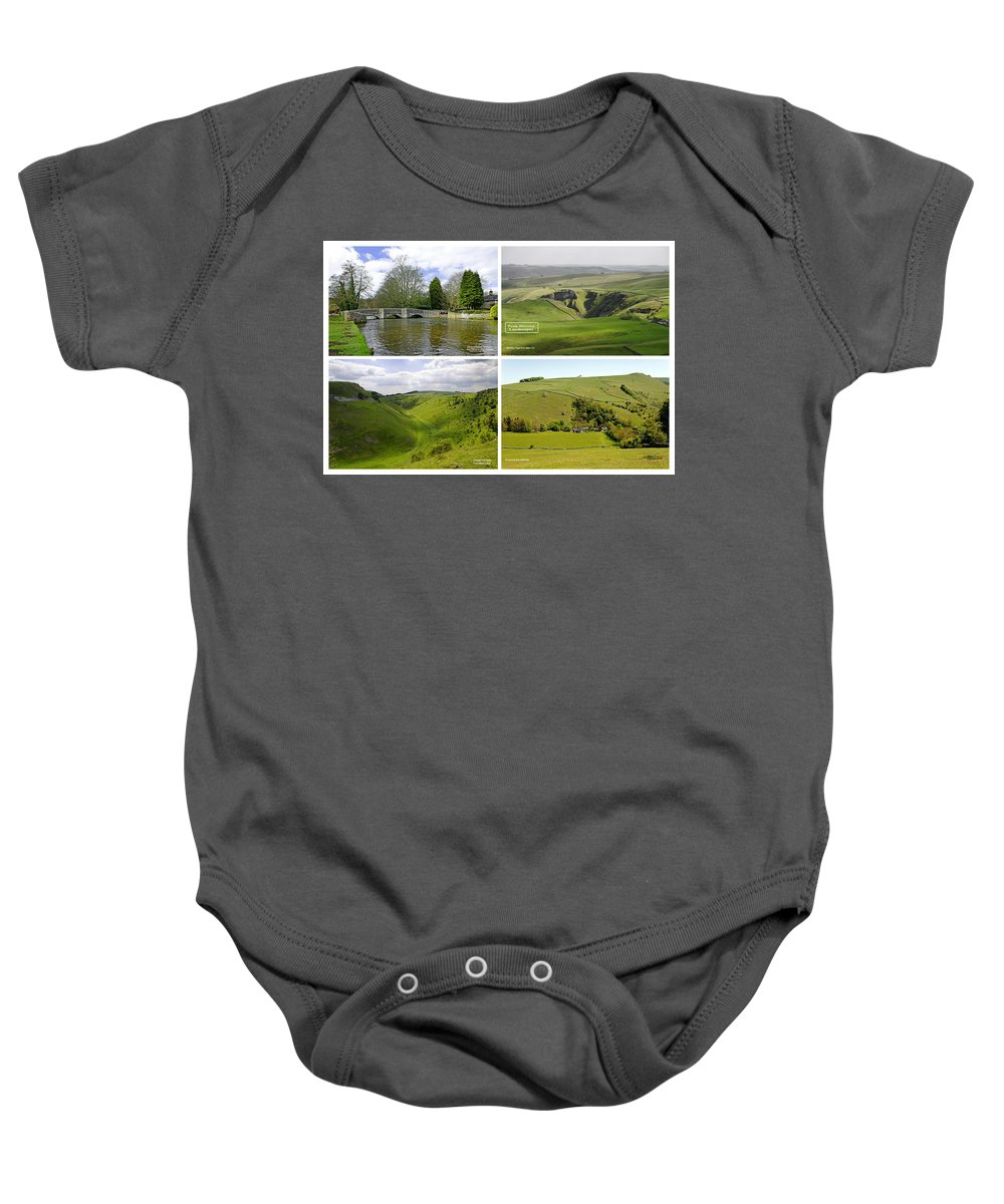 Europe Baby Onesie featuring the photograph Peak District Collage 01-labelled by Rod Johnson