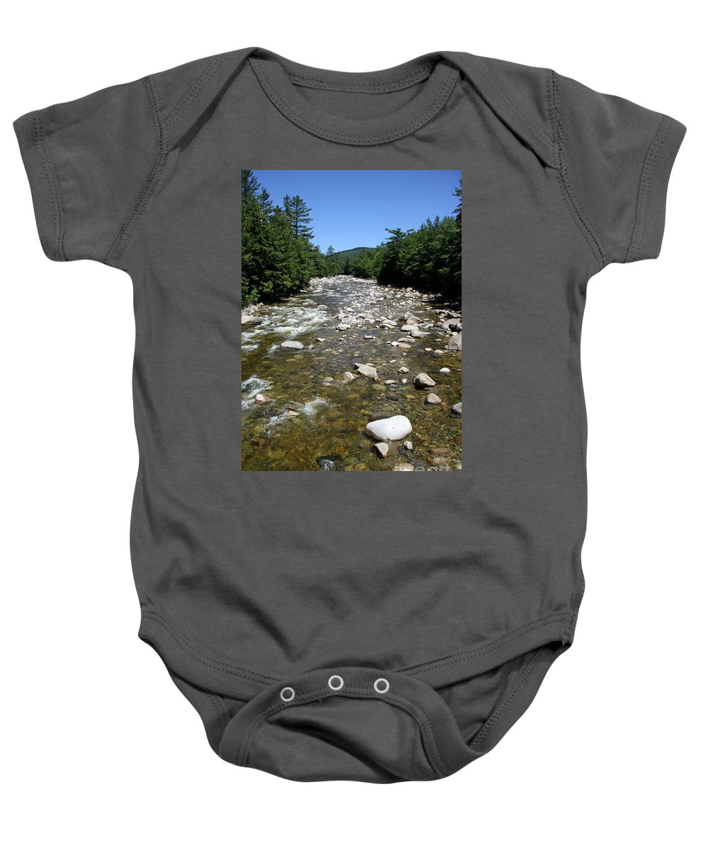 Pemigewasset River Baby Onesie featuring the photograph Pemigewasset River Nh by Christiane Schulze Art And Photography