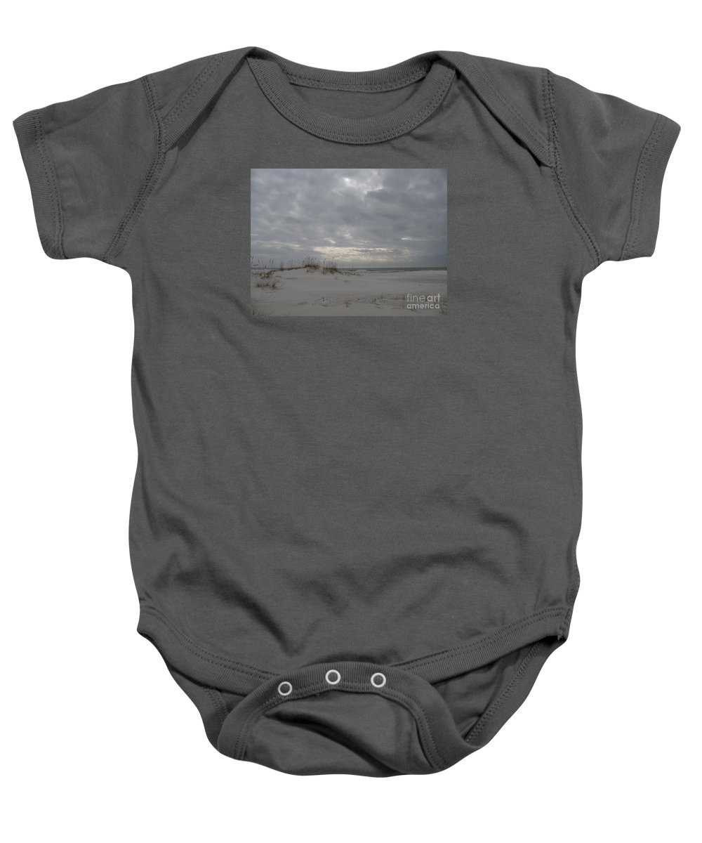Beach Baby Onesie featuring the photograph Pensacola Beach After Storm by Christiane Schulze Art And Photography