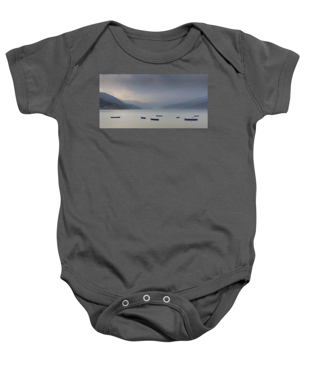 Nepal Baby Onesie featuring the photograph Phewa Lake In Pokhara by Dutourdumonde Photography