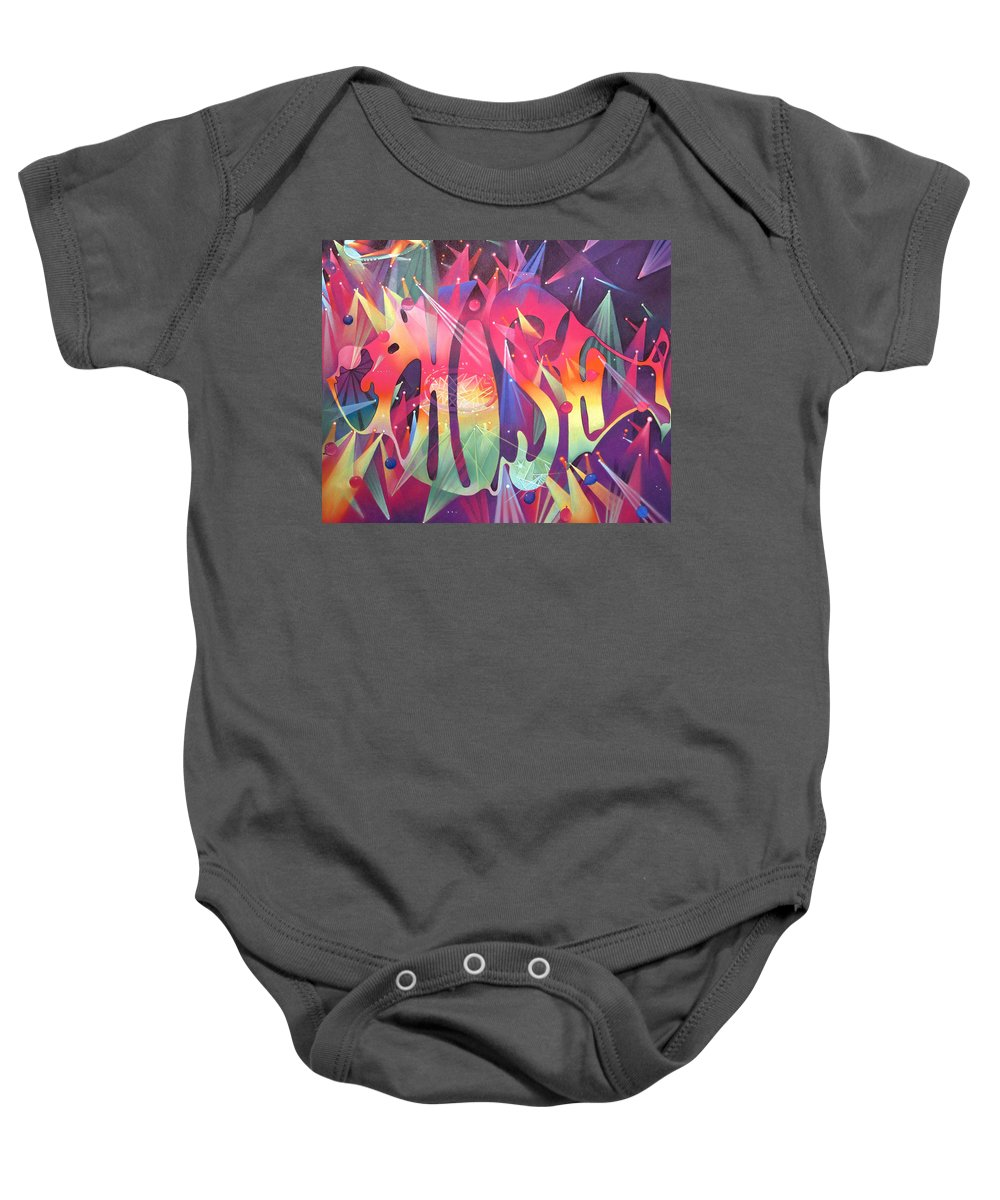 Phish Baby Onesie featuring the drawing Phish The Mother Ship by Joshua Morton