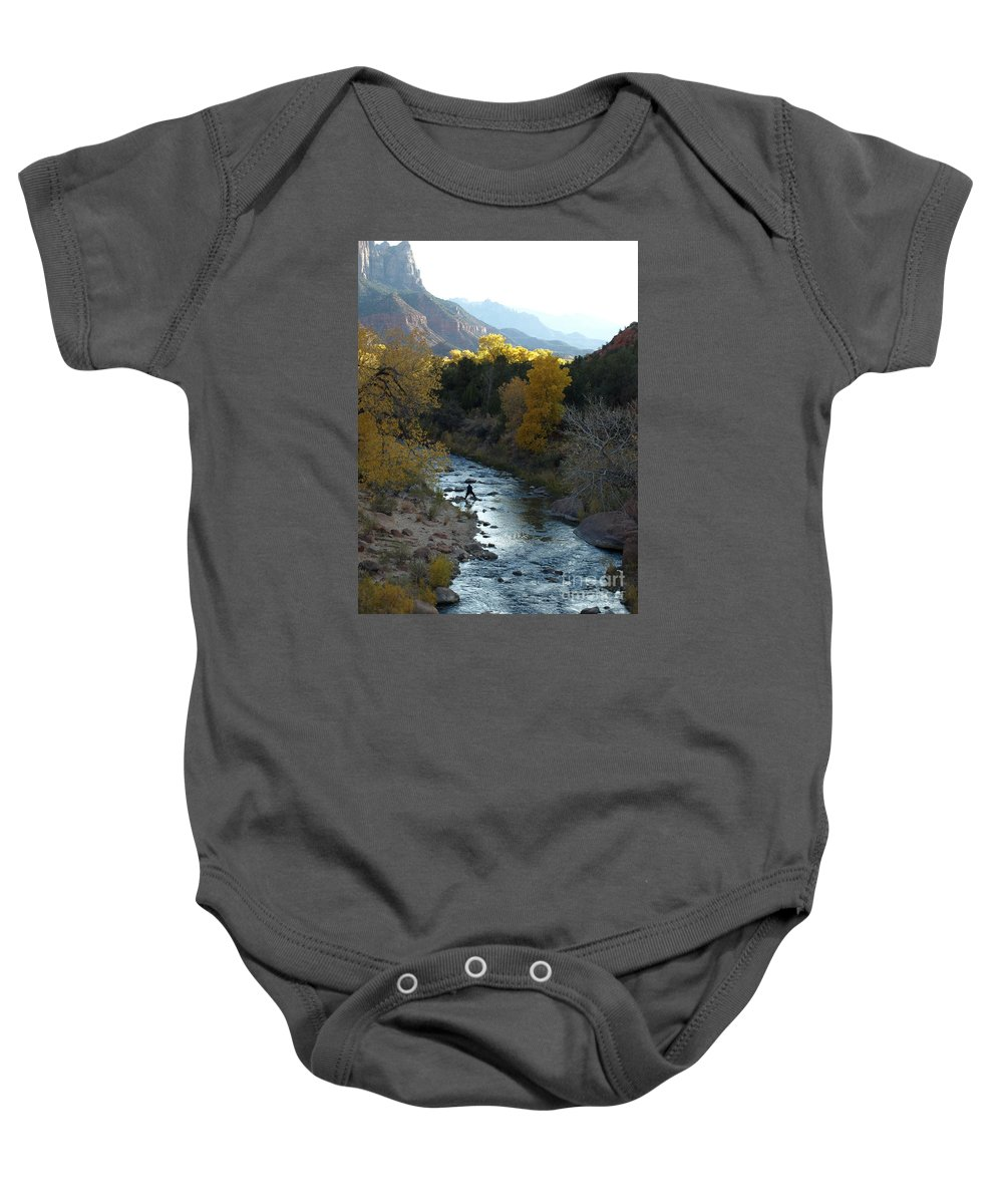 National Park Baby Onesie featuring the photograph Photographing Zion National Park by Jacklyn Duryea Fraizer