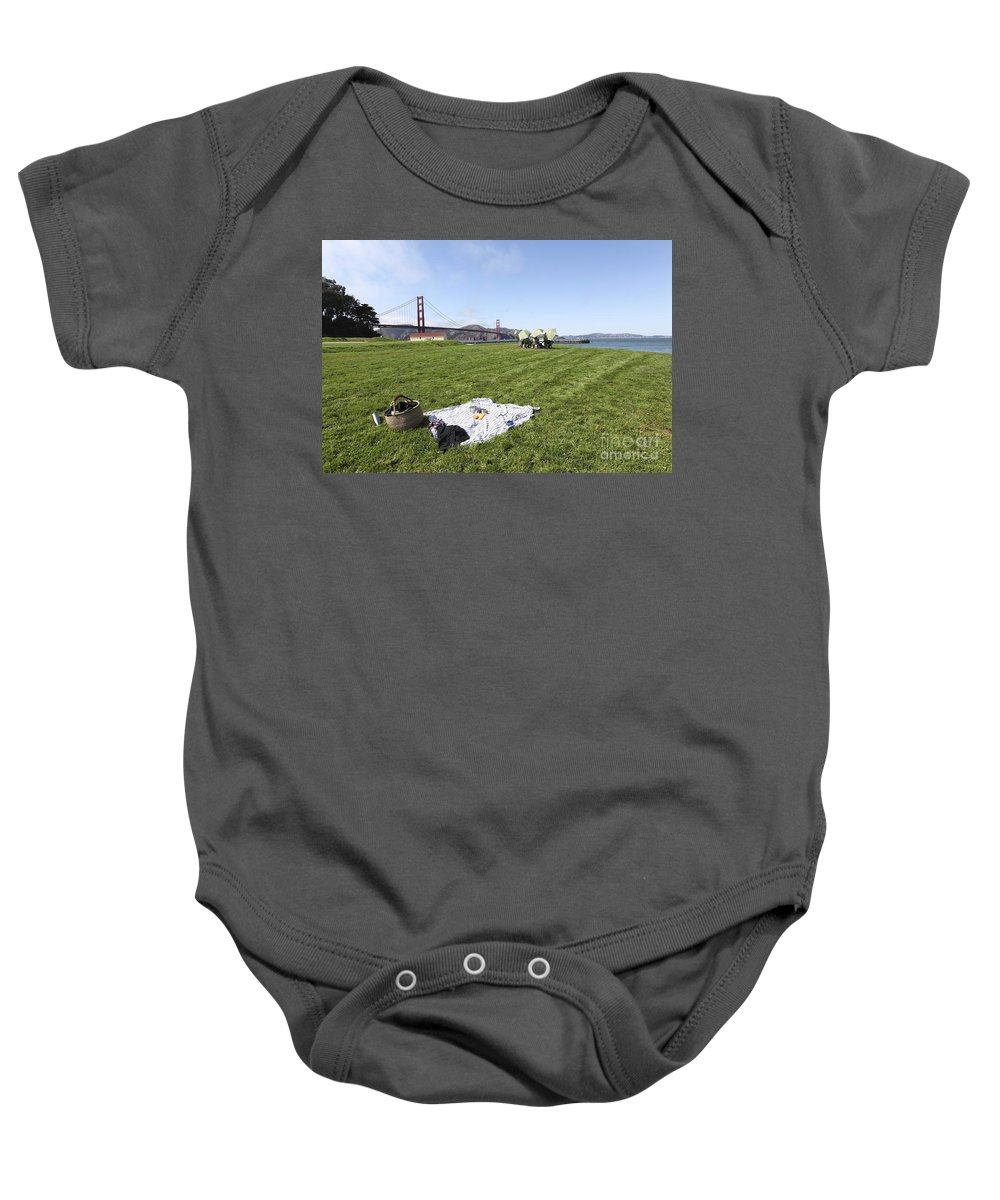 Carefree Baby Onesie featuring the photograph Picnicking At Golden Gate Park by Gal Eitan