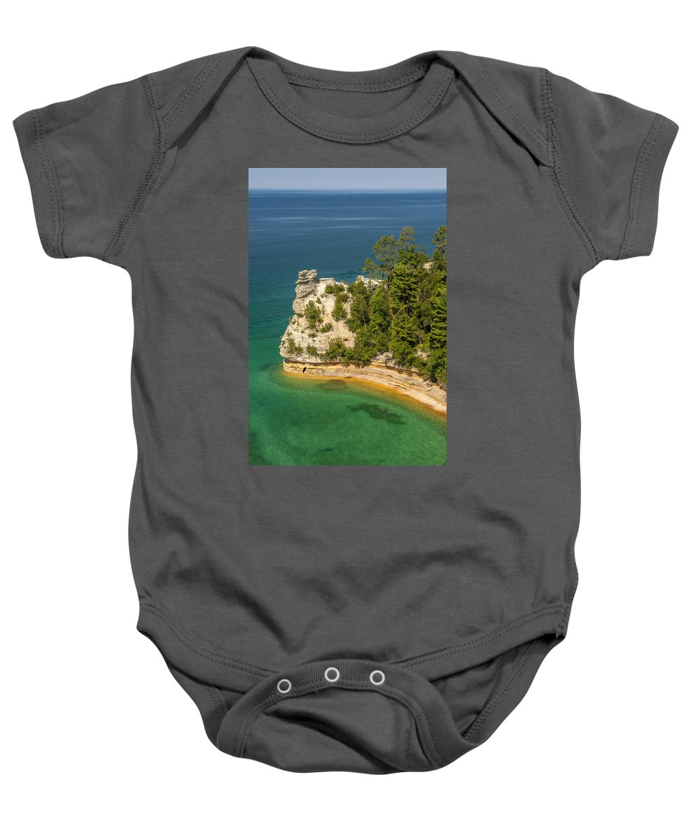 Pictured Rocks National Lakeshore Baby Onesie featuring the photograph Pictured Rocks National Lakeshore by Sebastian Musial