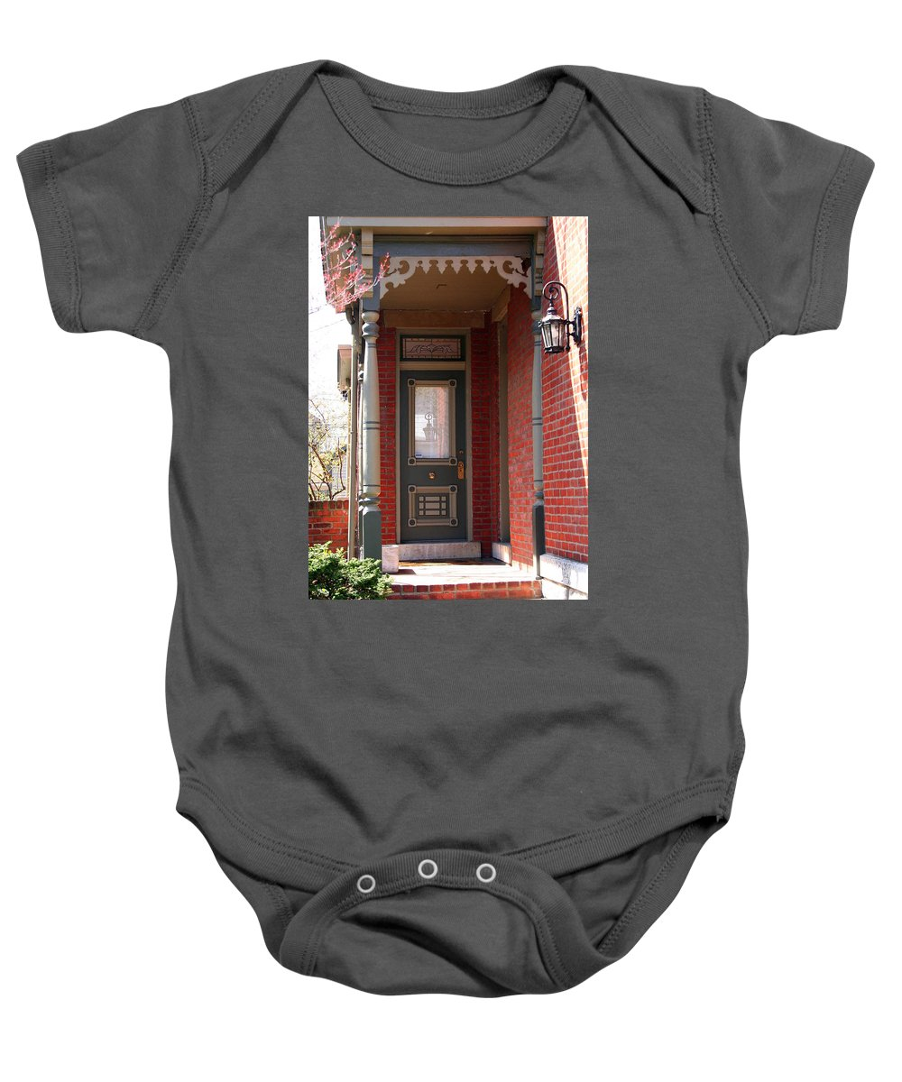 Picturesque Baby Onesie featuring the photograph Picturesque Porch by Laurel Talabere