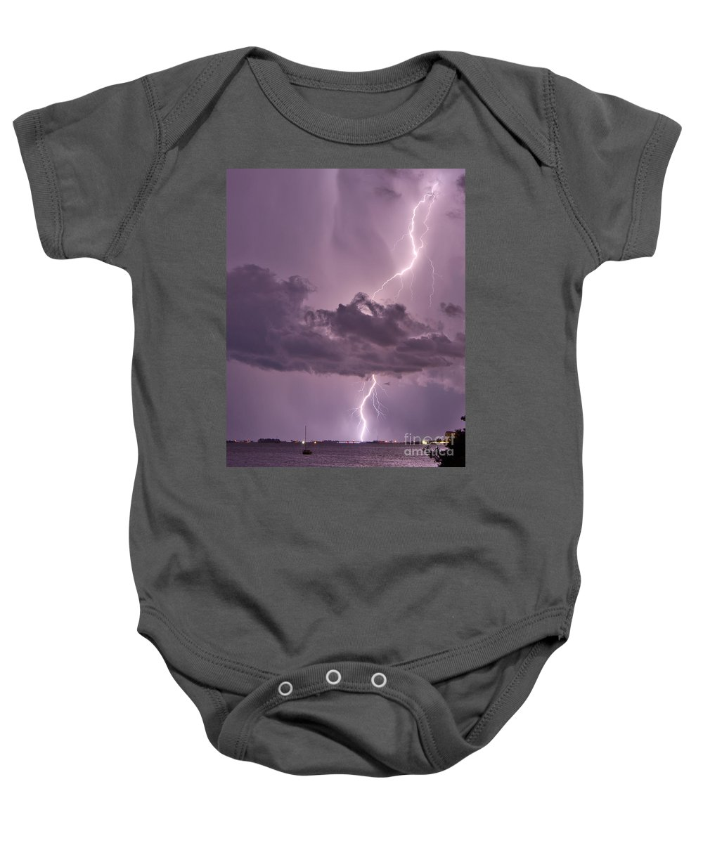 Florida Baby Onesie featuring the photograph Piercing by Stephen Whalen