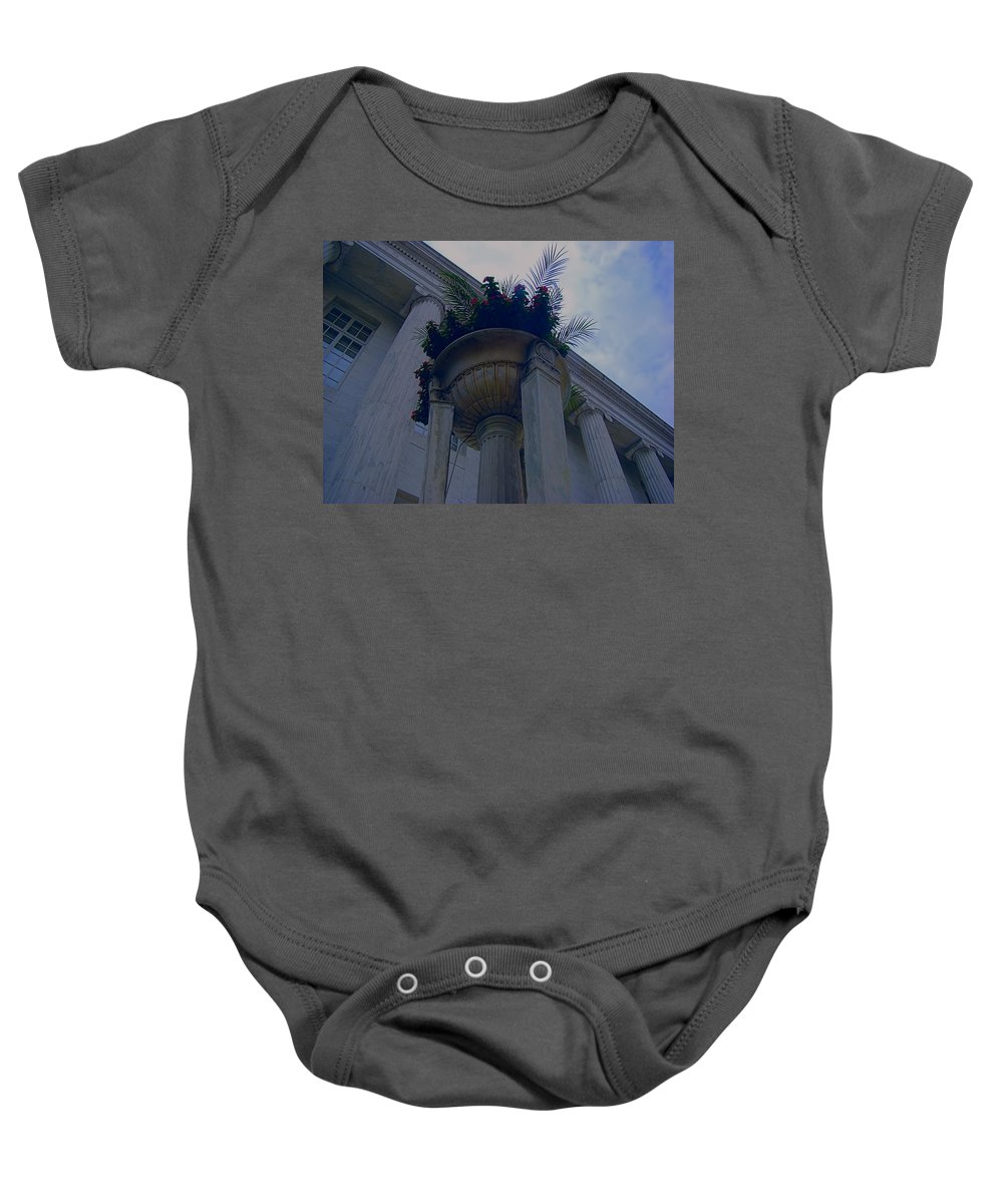 Baby Onesie featuring the photograph Pillars Upon Pillars 2 by Cathy Anderson