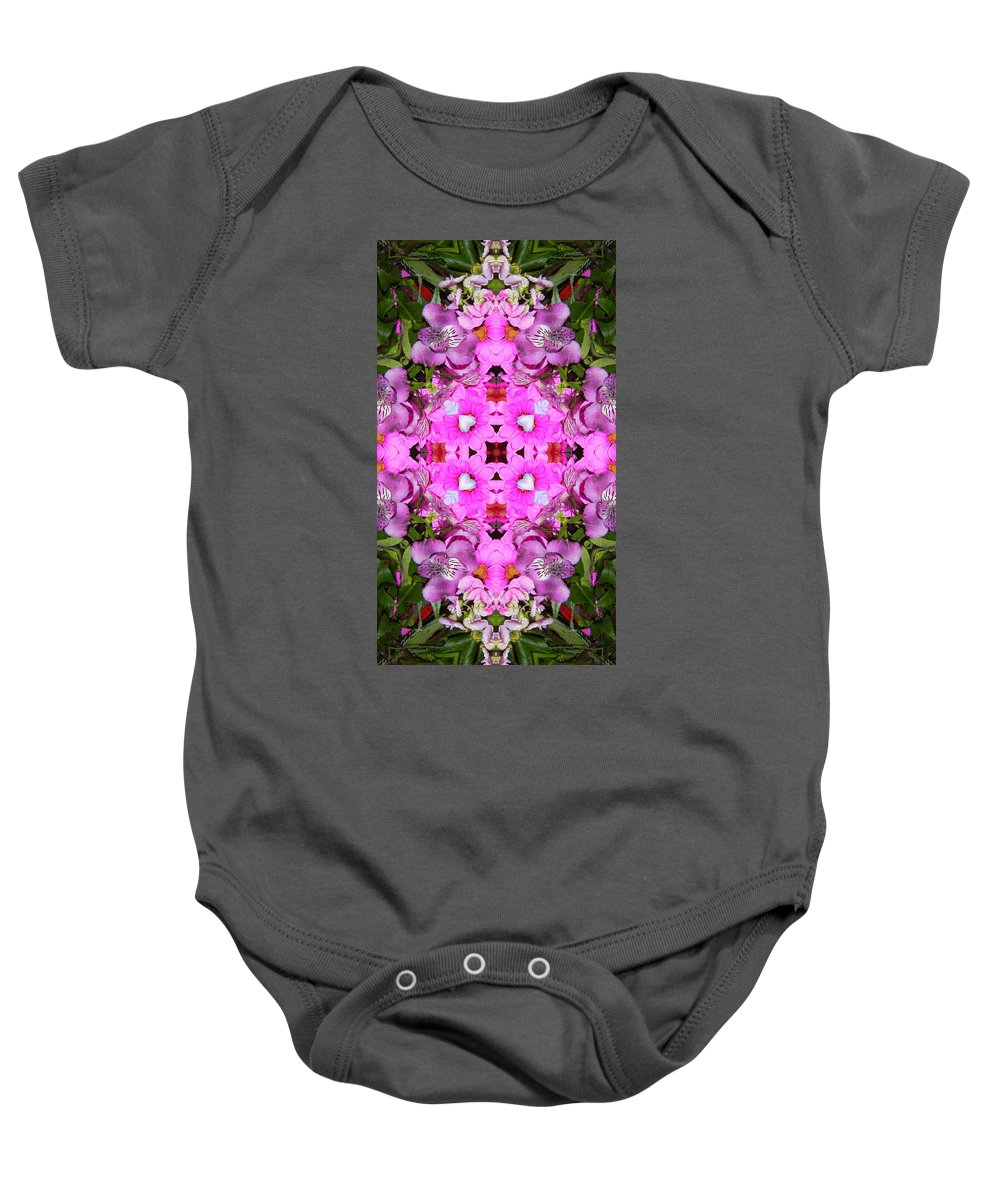 Baby Onesie featuring the digital art Pinks- Oh My by Bobbie Barth