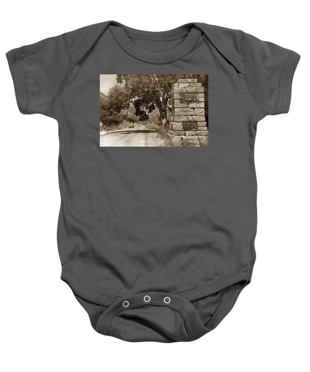 Monterey County Baby Onesie featuring the photograph Pinnacles National Monument California Circa 1946 by California Views Archives Mr Pat Hathaway Archives