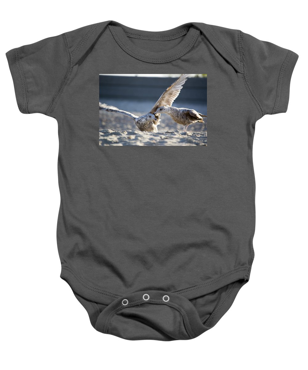 Seagull Baby Onesie featuring the photograph Play Time by Jatinkumar Thakkar