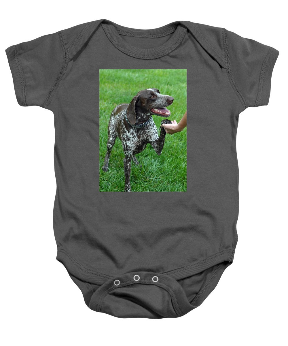 Animals Baby Onesie featuring the photograph Pleased To Meet You by Lisa Phillips