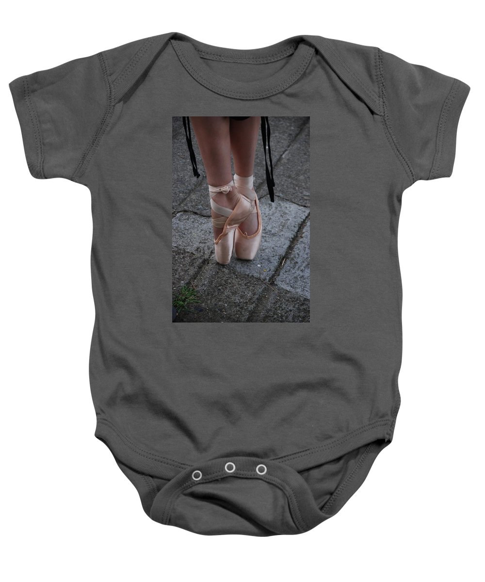 Ballet Baby Onesie featuring the photograph Poise by Eric Tressler