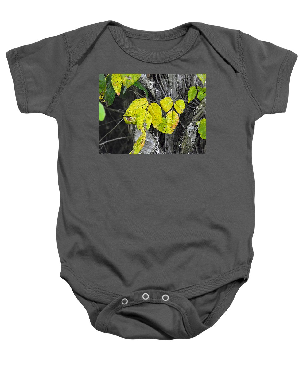 Poisin Baby Onesie featuring the photograph Poisin Ivy 2 by Nick Kirby