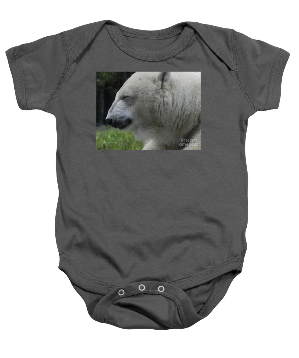 Polar Bear Baby Onesie featuring the photograph Polar Bear 4 by Heather Jane