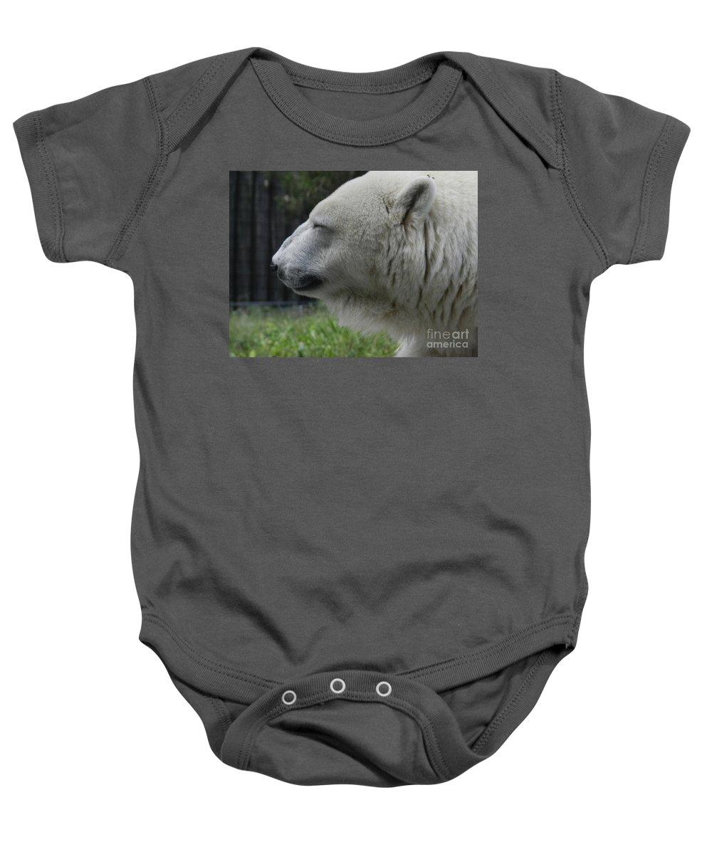 Polar Bear Baby Onesie featuring the photograph Polar Bear 5 by Heather Jane