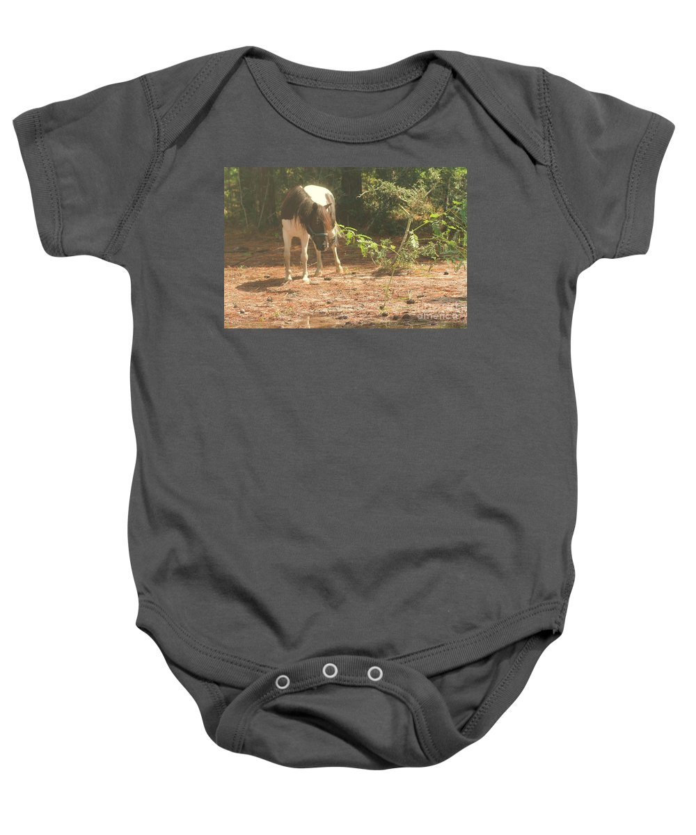 Pony Baby Onesie featuring the photograph Pony by Michelle Powell