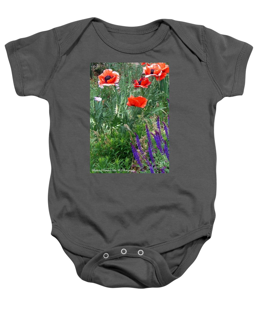 Poppy Baby Onesie featuring the photograph Popping Color by Bobbee Rickard