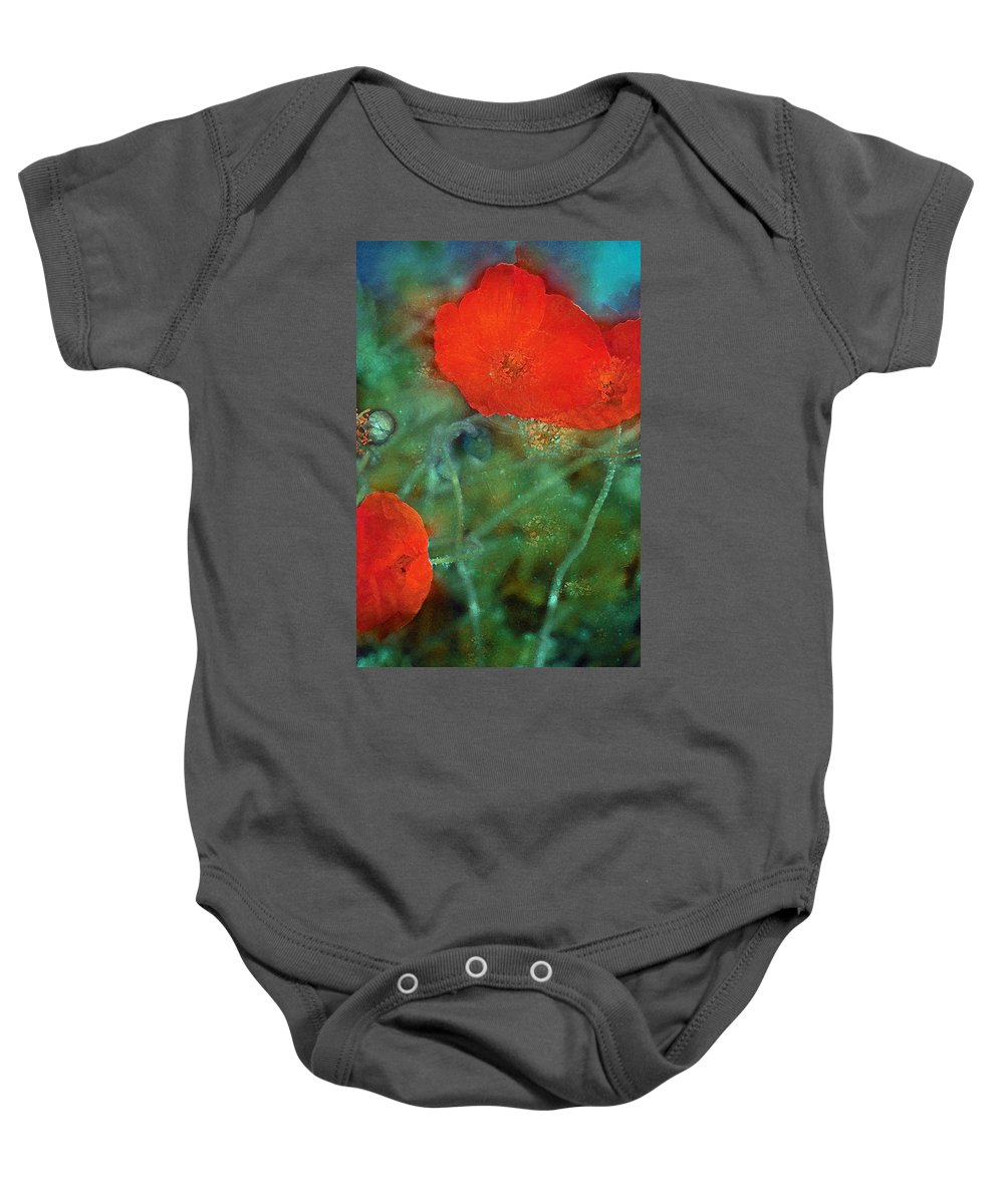Floral Baby Onesie featuring the photograph Poppy 30 by Pamela Cooper