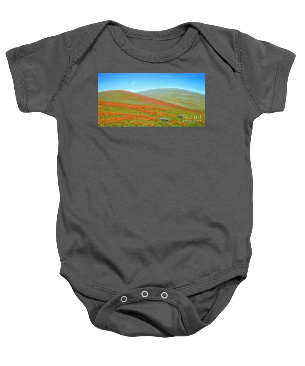 Poppy Baby Onesie featuring the painting Poppy Fields by Jerome Stumphauzer