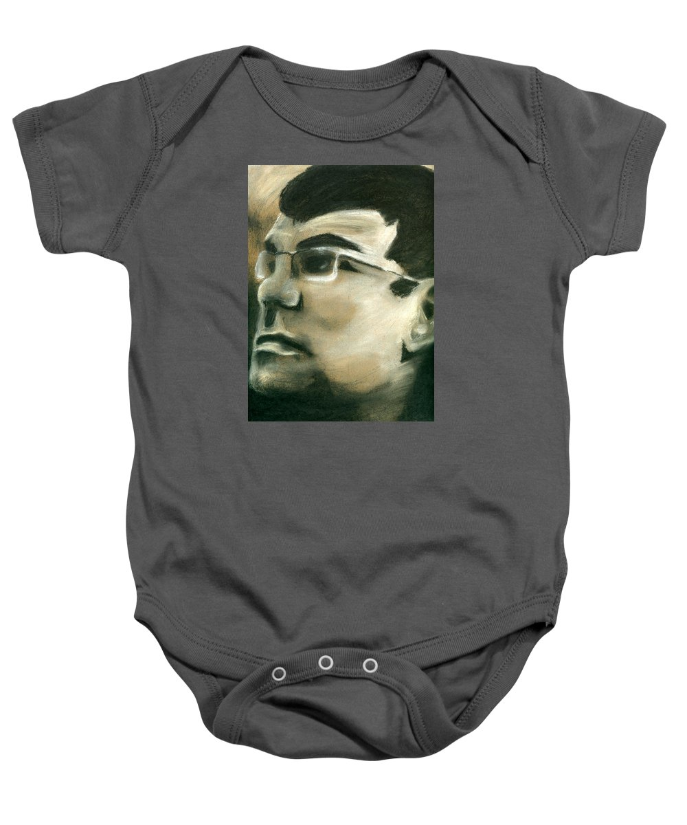 Portrait Baby Onesie featuring the drawing Portrait 6 by Matthew Howard