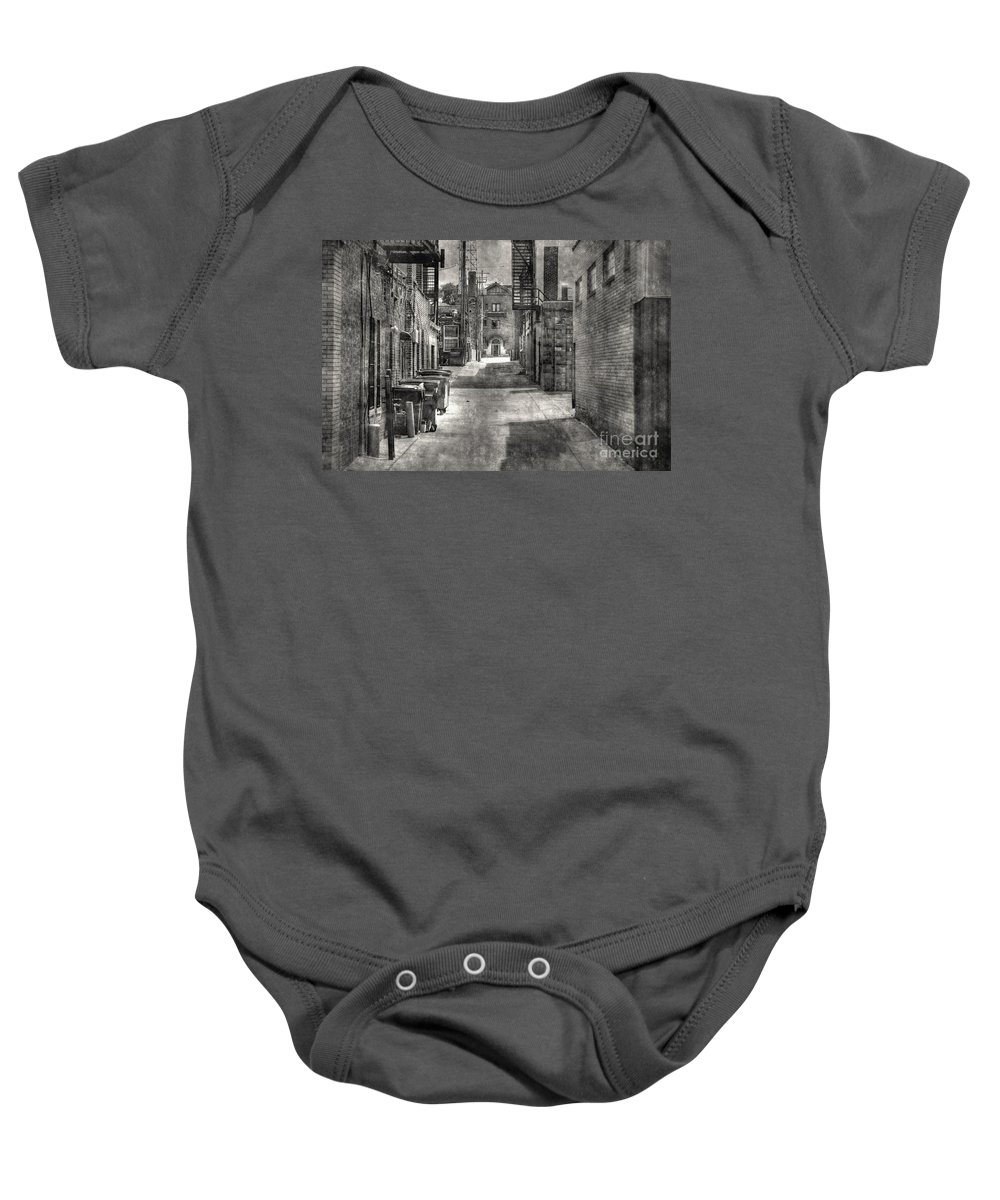 City Baby Onesie featuring the photograph Portrait Alley-2 by M Dale