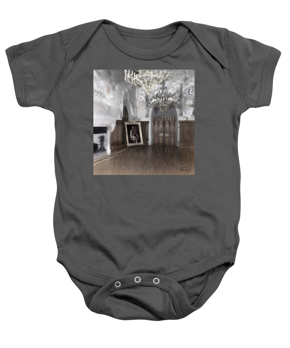 Painting Baby Onesie featuring the digital art Portrait Room by Patti Parish