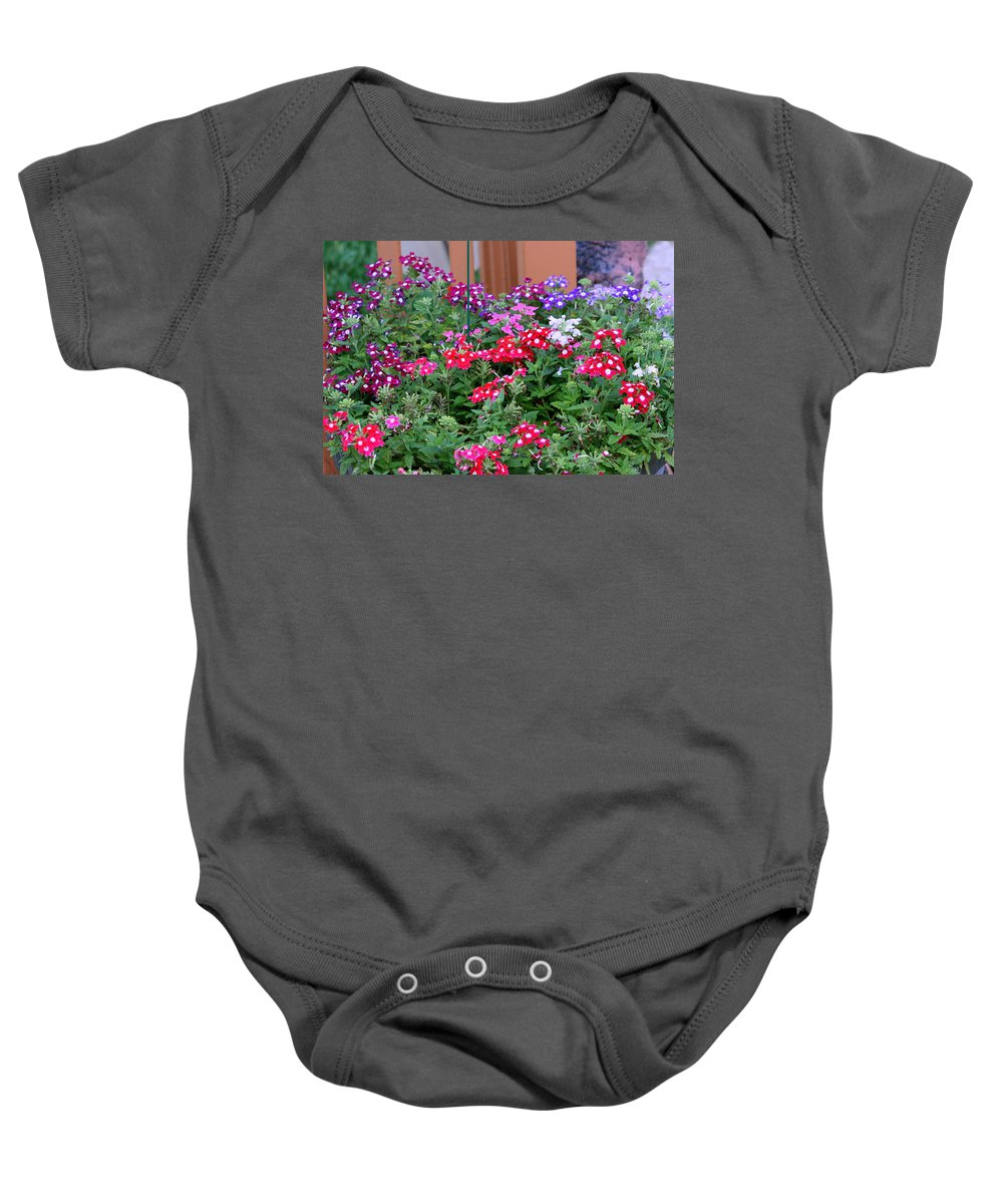 Flowers Baby Onesie featuring the photograph Pretty Little Posies by Kay Novy
