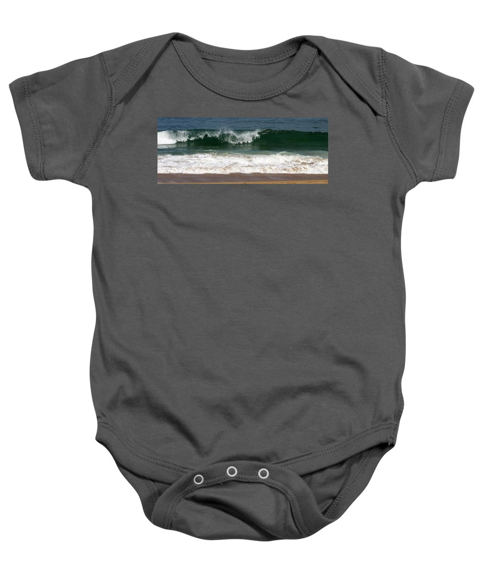 Cresting Wave Baby Onesie featuring the photograph Pretty Wave by Eunice Miller