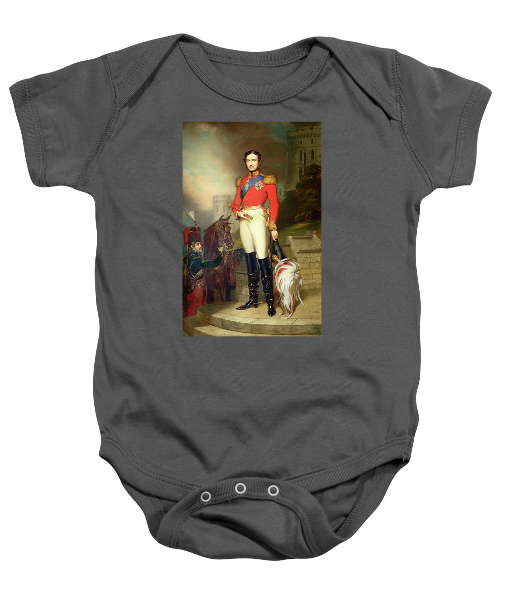 Fusilier Baby Onesie featuring the painting Prince Albert by John Lucas