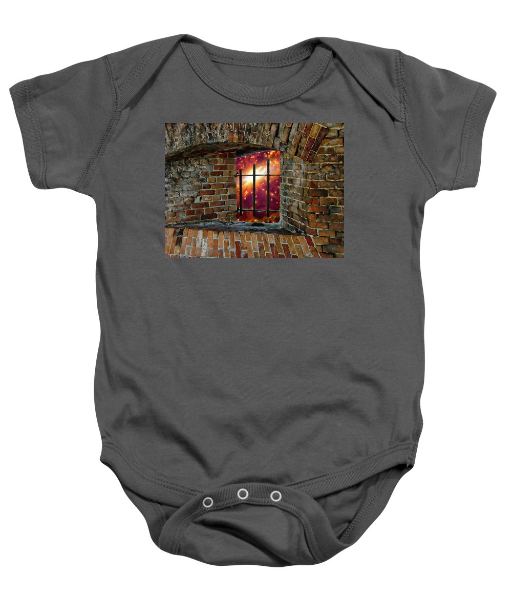 Ages Baby Onesie featuring the photograph Prison In The Cosmos by Anthony Dezenzio