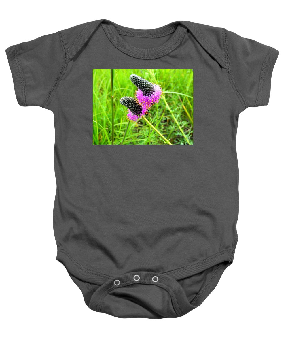 Flower Baby Onesie featuring the photograph Purple Pair by Mark Hudon