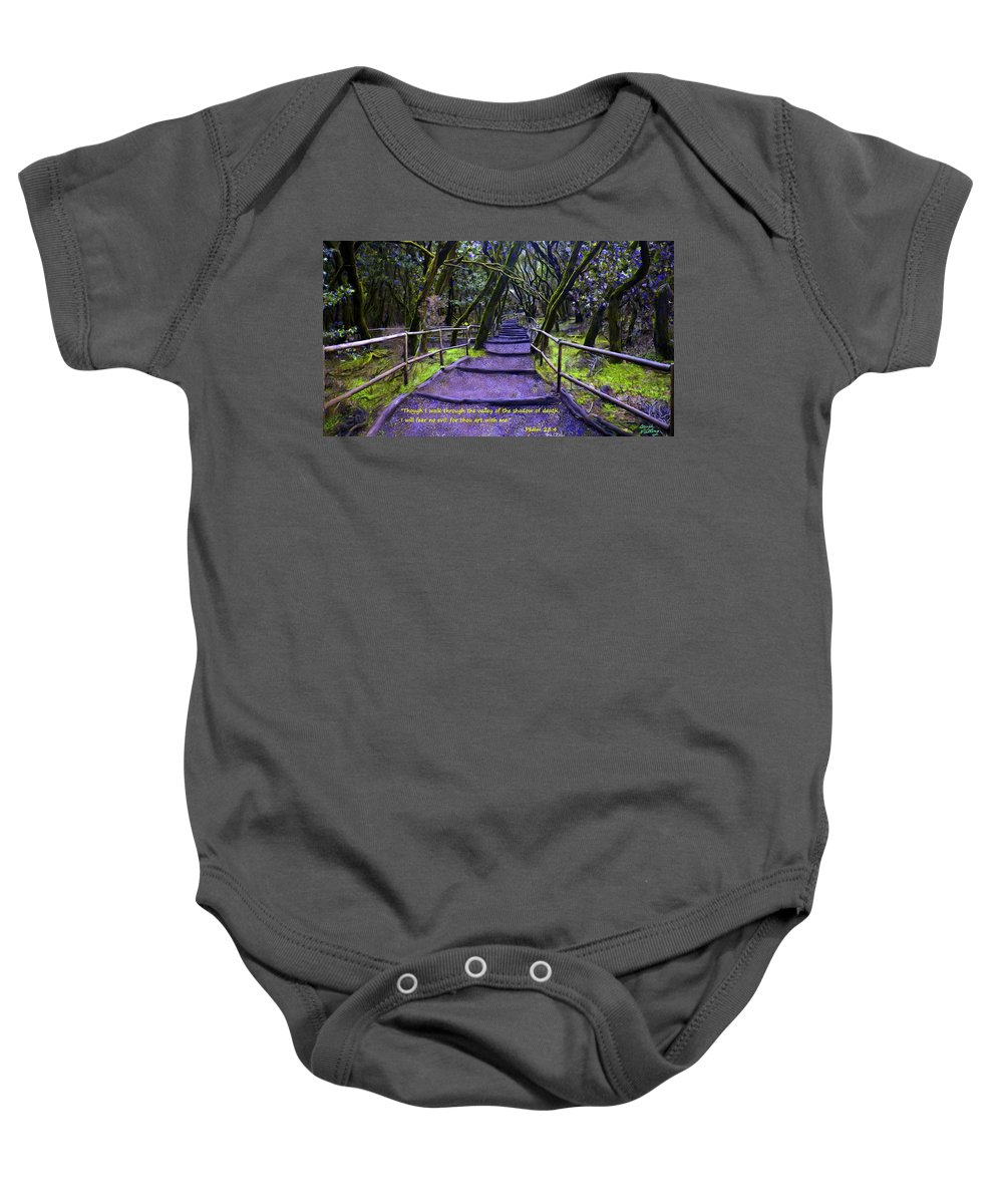 Purple Path Baby Onesie featuring the painting Purple Path Through The Valley by Bruce Nutting