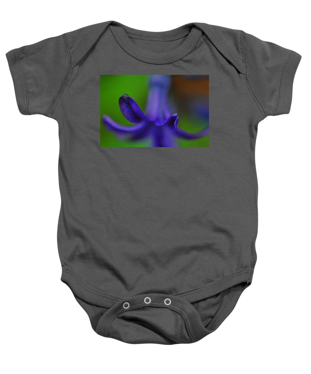 Floral Baby Onesie featuring the photograph Purple Petals by Tina Baxter