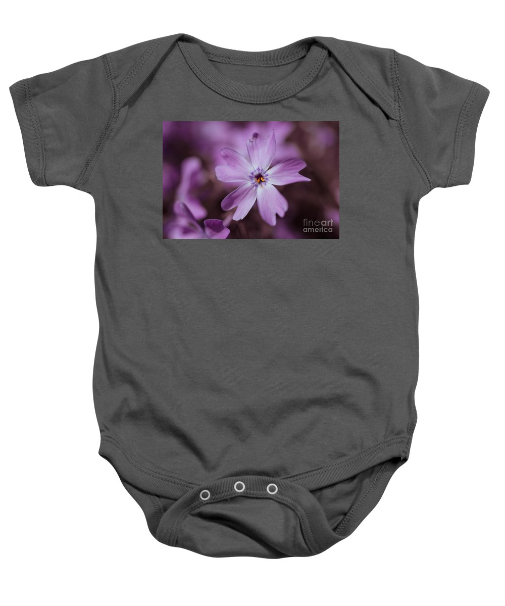 Blossom Baby Onesie featuring the photograph Purple Star by Hannes Cmarits